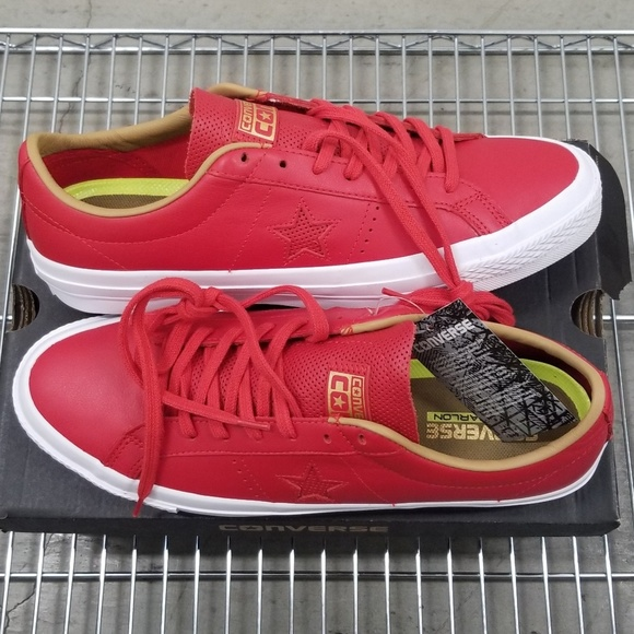Converse One Star Leather Ox Casino Red NWT